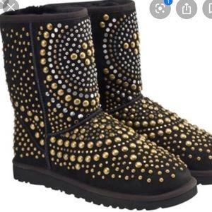Jimmy Choo x Ugg Mandah Studded Black Boots